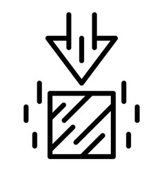 Force gravity icon outline style vector
