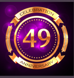 forty nine years anniversary celebration with vector image
