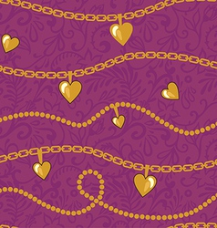 golden chains pattern vector image