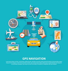Gps navigation system background vector
