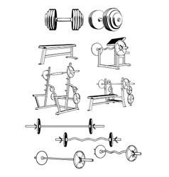 Gym Set vector image