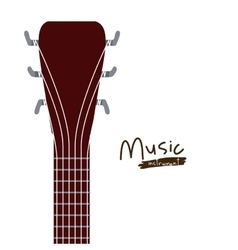 handle acoustic guitar isolated icon design vector image