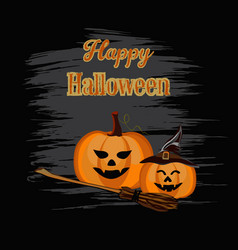 happy halloween backdrop vector image
