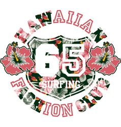 Hawaiian fashion club vector image