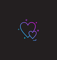 heart love gift icon design vector image