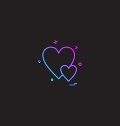 heart love gift icon design vector image