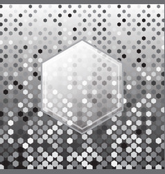 Hexagon silver halftone abstract background vector