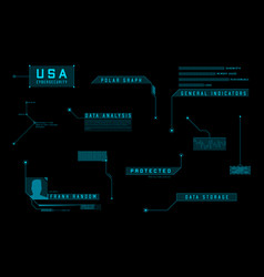 hud callout ui design elements futuristic blue vector image