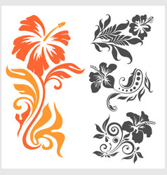 Lilly - floral design female tattoo vector