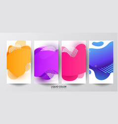 liquid gradient fluid banners template set vector image