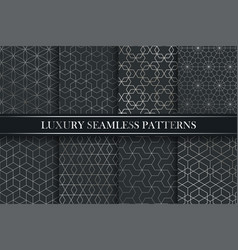 Luxury ornamental seamless gradient patterns vector