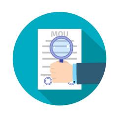 memorandum of understanding mou icon vector image