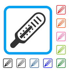 mercury thermometer framed icon vector image