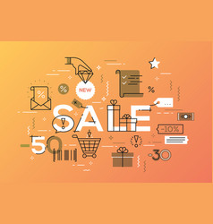 modern concepts of word sale vector image