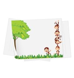 monkey paper vector image