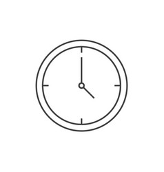 office clock outline icon vector image