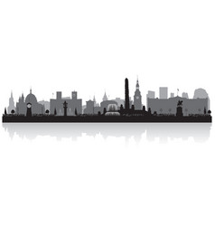 oslo norway city skyline silhouette vector image