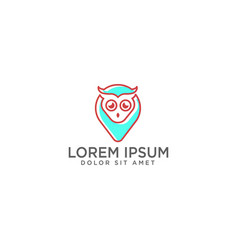 owl map or point logo template and inspiration vector image