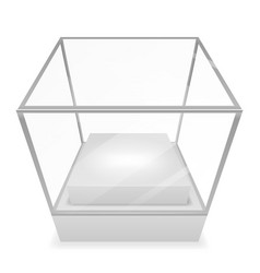 perspective distortion showcase glass box vector image