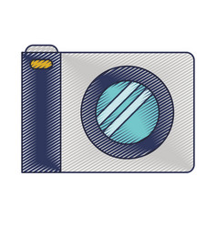 photo camera icon in colored crayon silhouette vector image