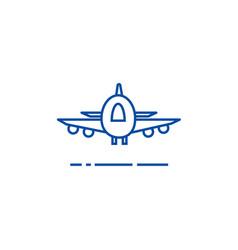 planeairoportfast delivery line icon concept vector image