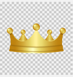 Realistic gold crown 3d golden crown isolated on vector