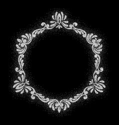 Retro shiny frame or border vector