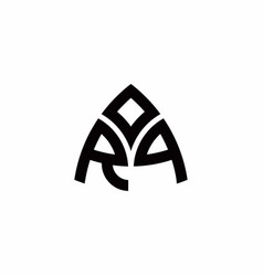 rp monogram logo with modern triangle style vector image