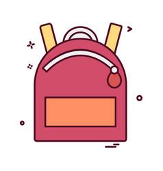 school bag icon design vector image