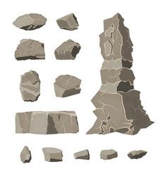 Set rock stone stones rocks in variuos sizes vector