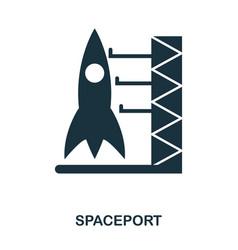 spaceport icon flat style icon design ui vector image