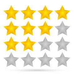 star rating system 4 stars vector image