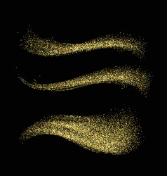 stardust collection gold glitter wave set magic vector image