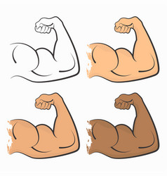 Strong power muscle vector