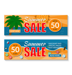 summer sale banners set vector image