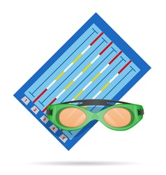 swimming pool vector image