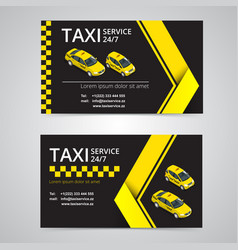 Taxi card for taxi-drivers taxi service vector