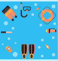 The are dive equipment icons vector
