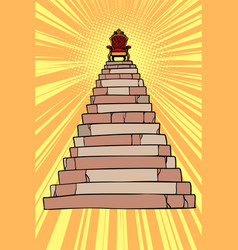 Throne on top pyramid vector
