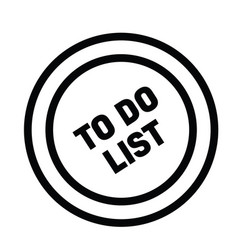 to do list rubber stamp vector image