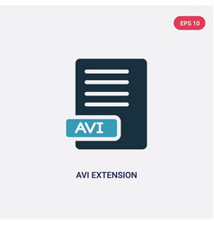 Two color avi extension icon from user interface vector