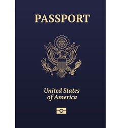 US passport vector image