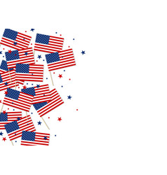 usa or america flag and star on white background vector image