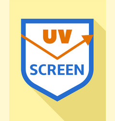Uv screen protect logo flat style vector