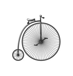 vintage bike silhouette isolated on white vector image