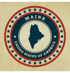 Vintage label Maine vector