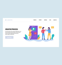 web site design template creative idea and vector image