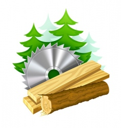 woodworking industry icon vector image