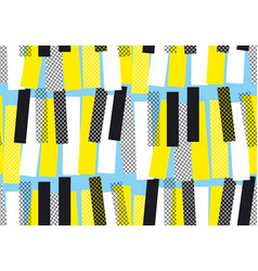yellow and blue jazz music seamless pattern vector image