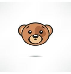 Crying bear vector image vector image